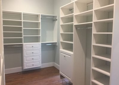 A white walking closet