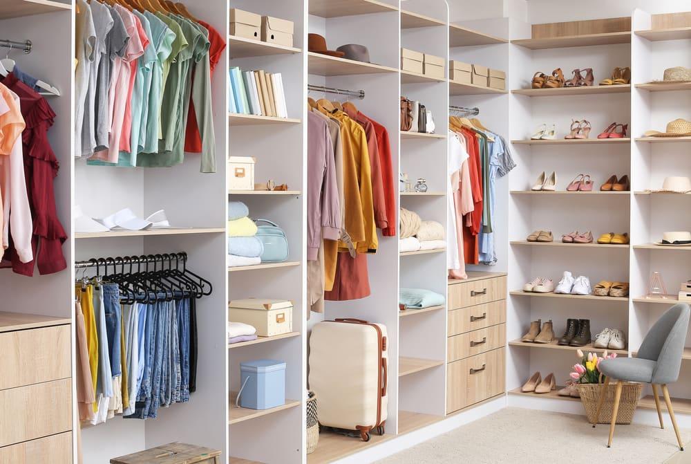 Custom closet in Greenville